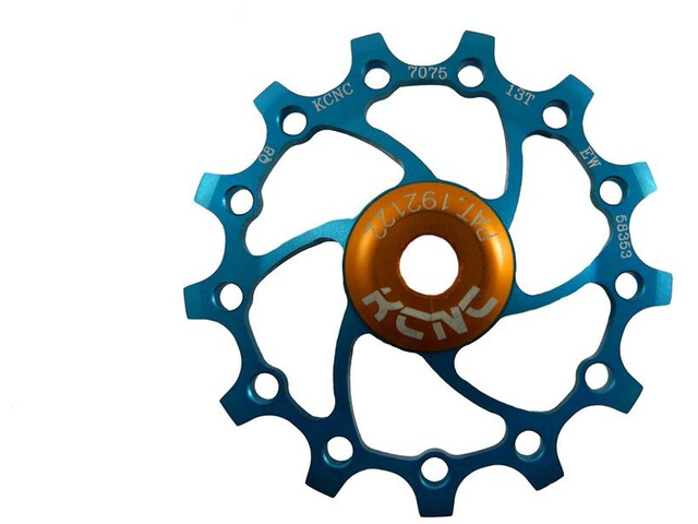 KCNC Original Jockey Wheel 12T SS Bearing Long Teeth, niebieski